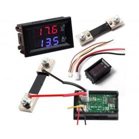 Voltmetru/ampermetru panou DC 0-100V 0-50A cu sunt